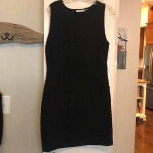 Calvin Klein Black fitted dress